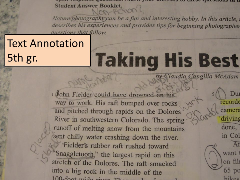 Text Annotation 5th gr.