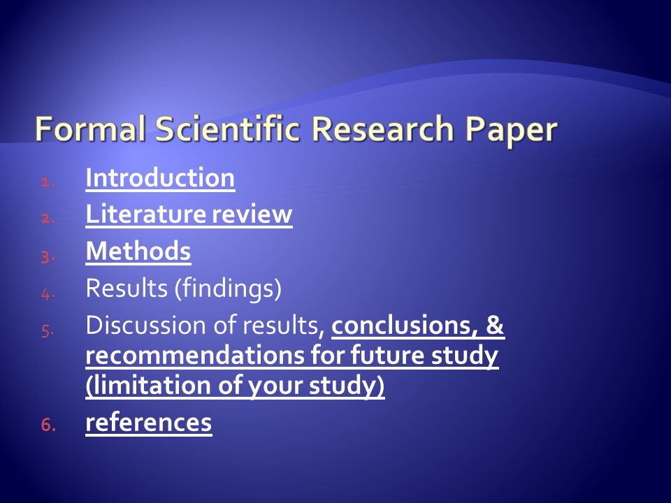 1. Introduction 2. Literature review 3. Methods 4.