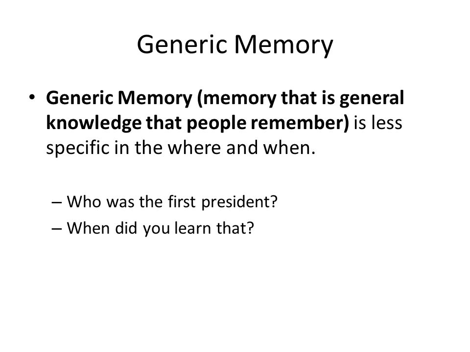 Different Kinds of Forgetting Amnesia- severe memory loss caused by brain injury, shock, fatigue, ill, or repression – Infantile Amnesia- cannot remember things before the age of three – Anterograde Amnesia- memory loss forming from trauma that prevents a person from forming new memories – Retrograde Amnesia- forgetting the events leading up to a traumatic event.