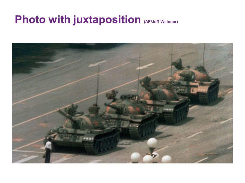 Photo with juxtaposition (AP/Jeff Widener)