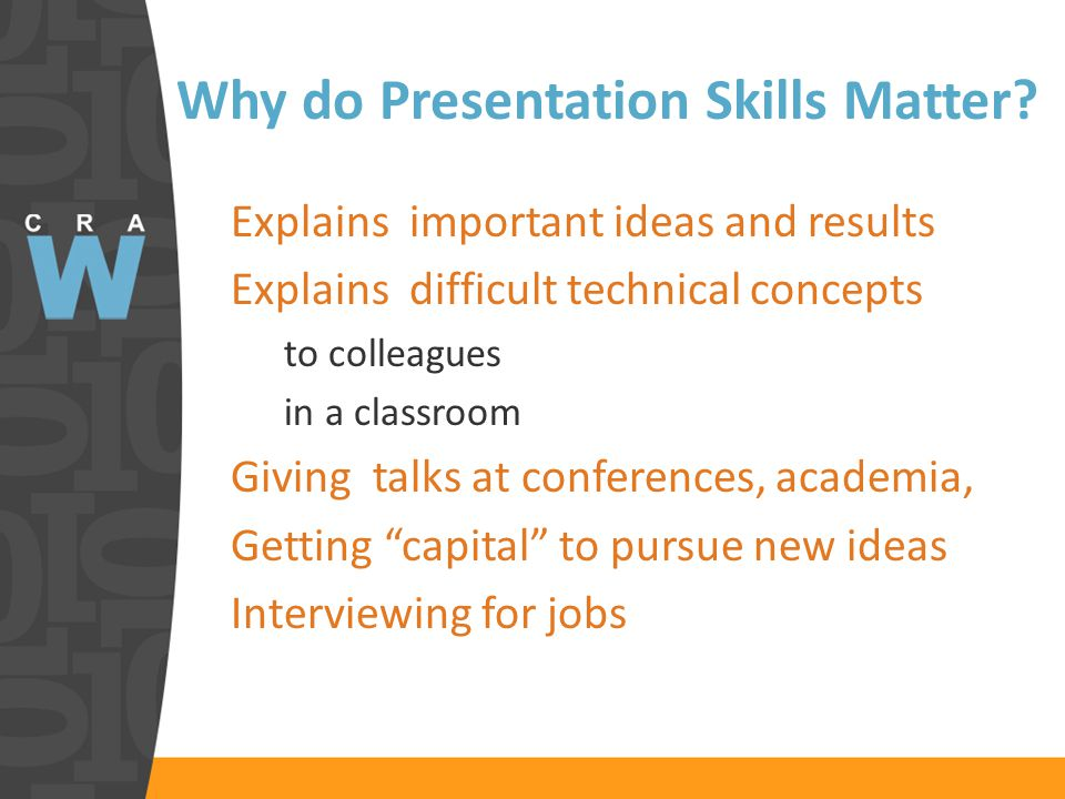 Why do Presentation Skills Matter.
