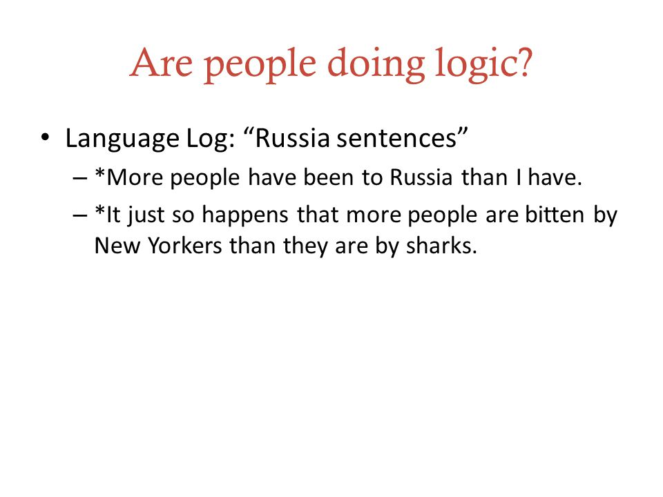 Are people doing logic.