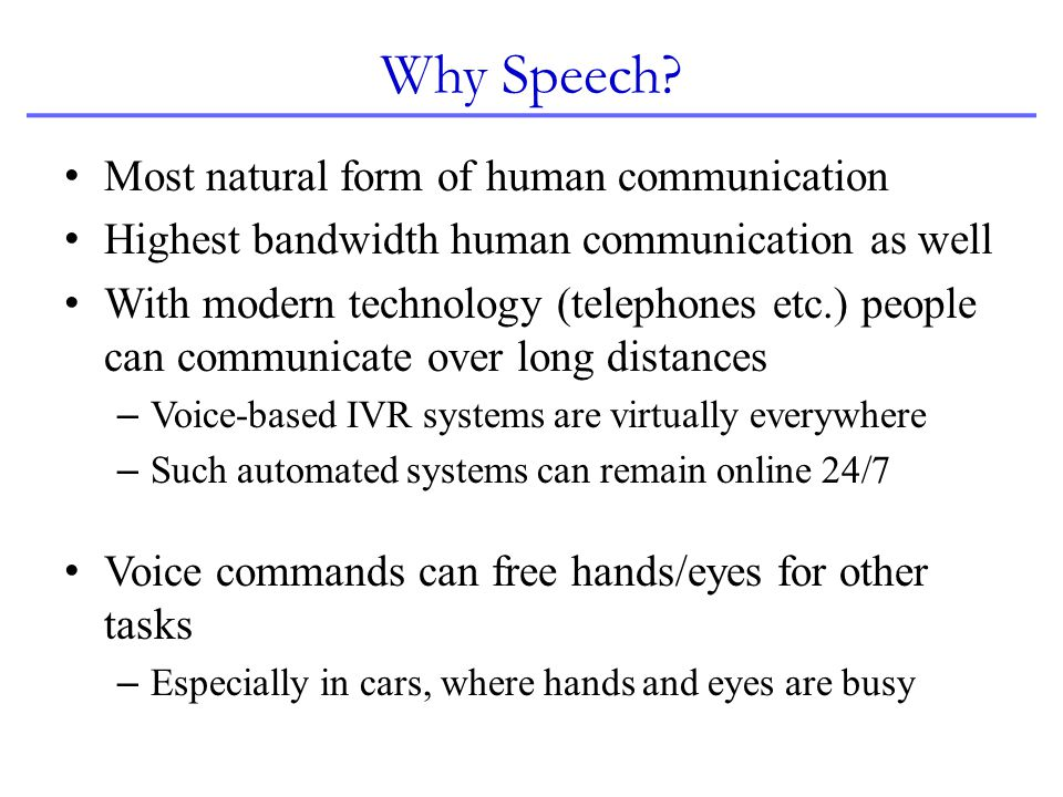 Some Milestones in Speech Recognition 1968.
