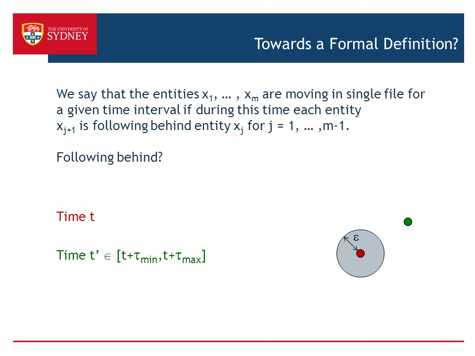 Towards a Formal Definition.