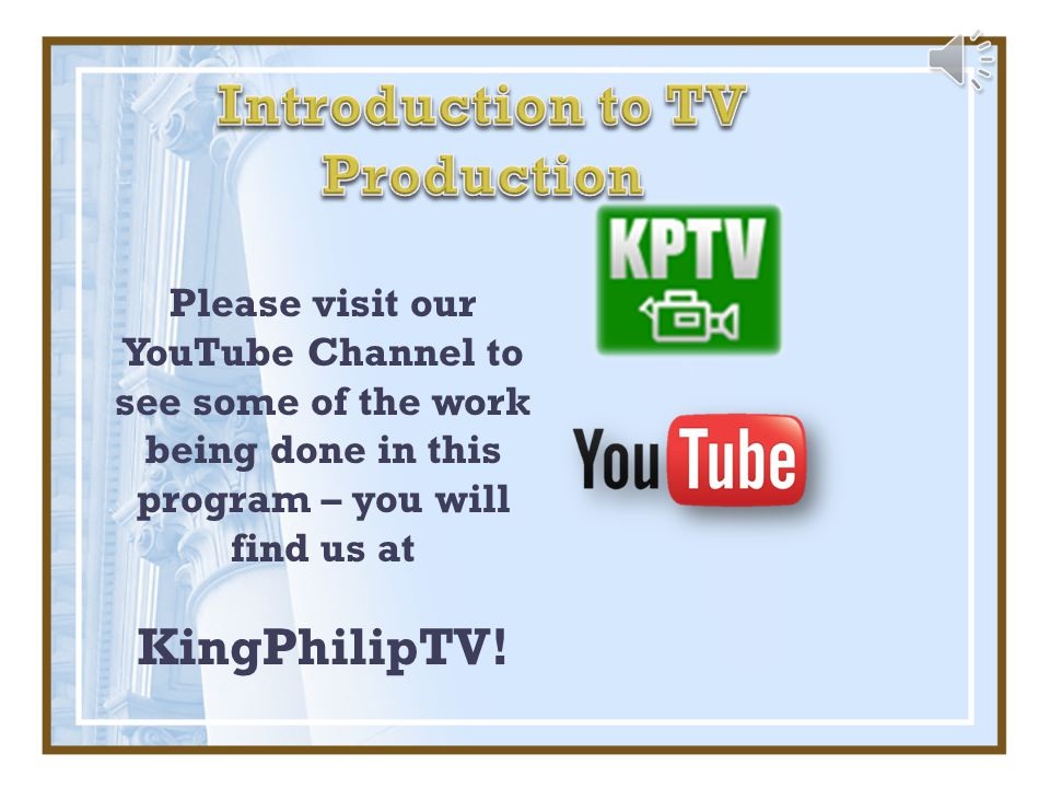 Please visit our YouTube Channel to see some of the work being done in this program – you will find us at KingPhilipTV!
