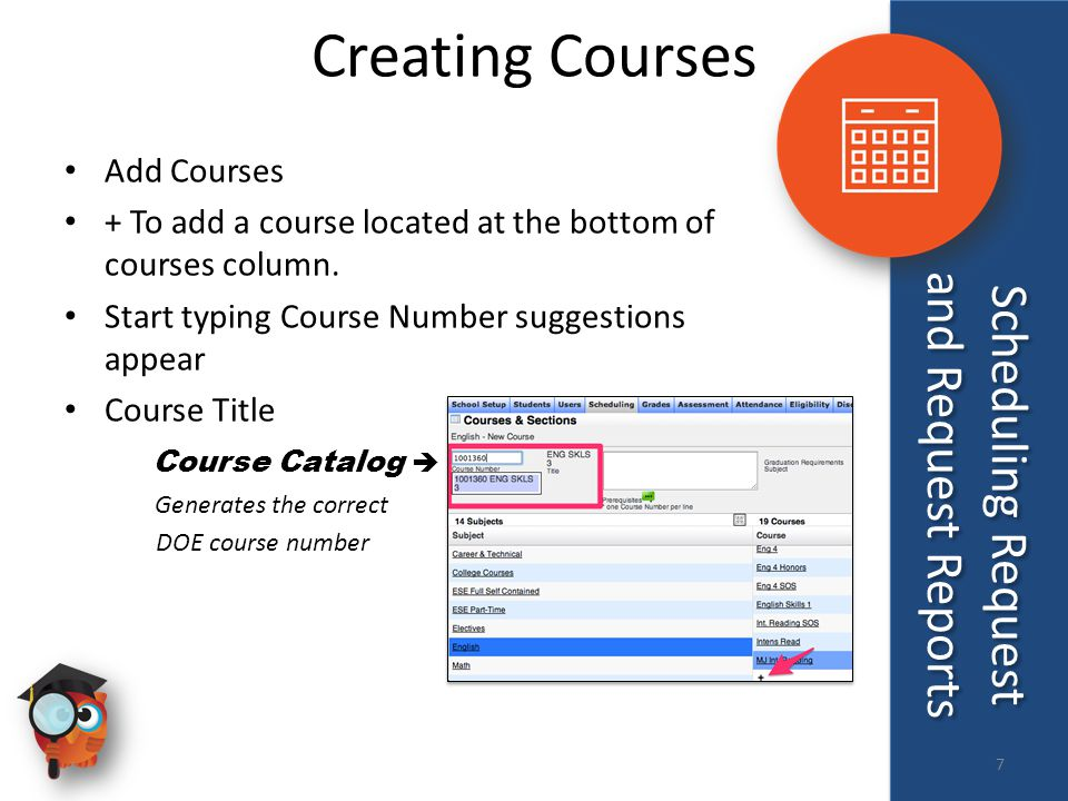 Creating Courses Add Courses + To add a course located at the bottom of courses column.