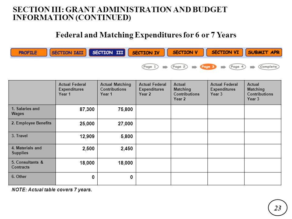 Actual Federal Expenditures Year 1 Actual Matching Contributions Year 1 Actual Federal Expenditures Year 2 Actual Matching Contributions Year 2 Actual Federal Expenditures Year 3 Actual Matching Contributions Year 3 1.