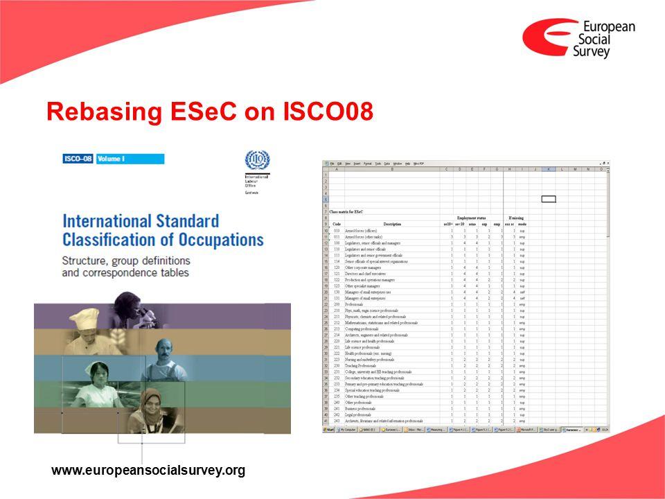 www.europeansocialsurvey.org Rebasing ESeC on ISCO08