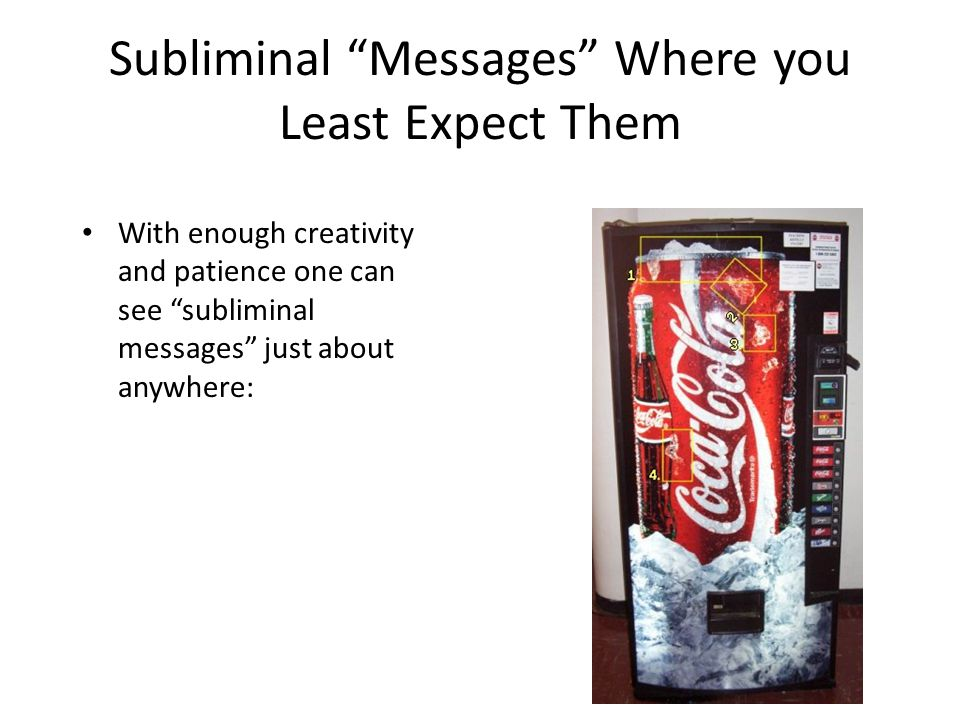 """Subliminal """"Messages"""" Where you Least Expect Them With enough creativity and patience one can see """"subliminal messages"""" just about anywhere:"""