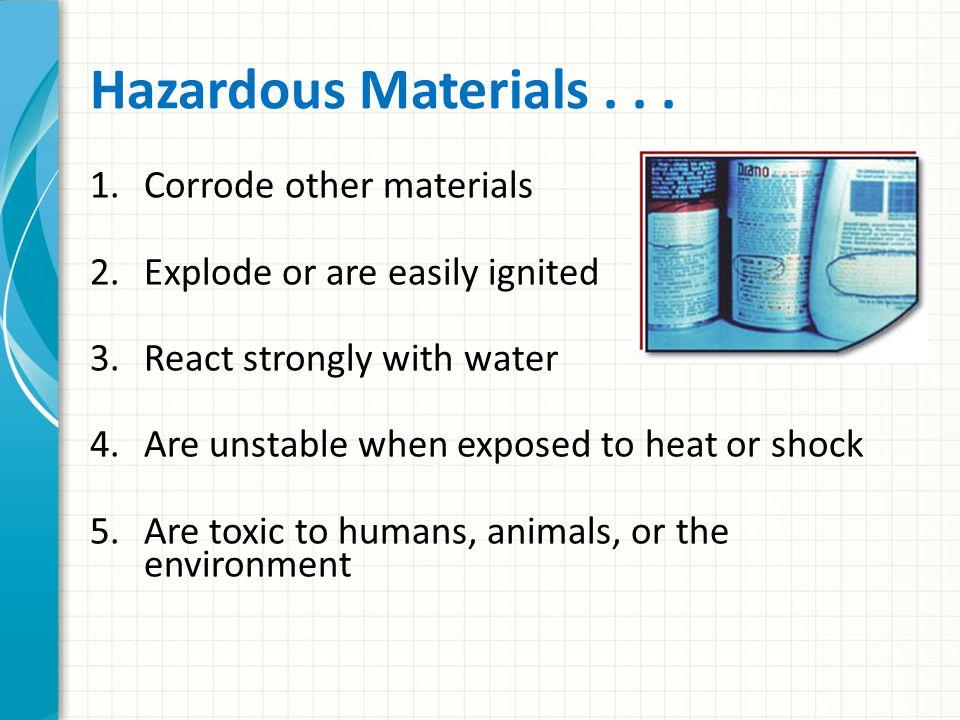 Hazardous Materials...