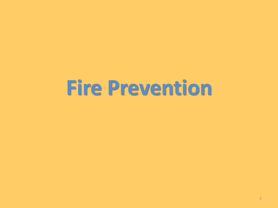 Fire Prevention 3