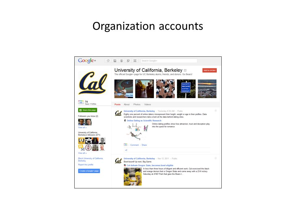 Organization accounts