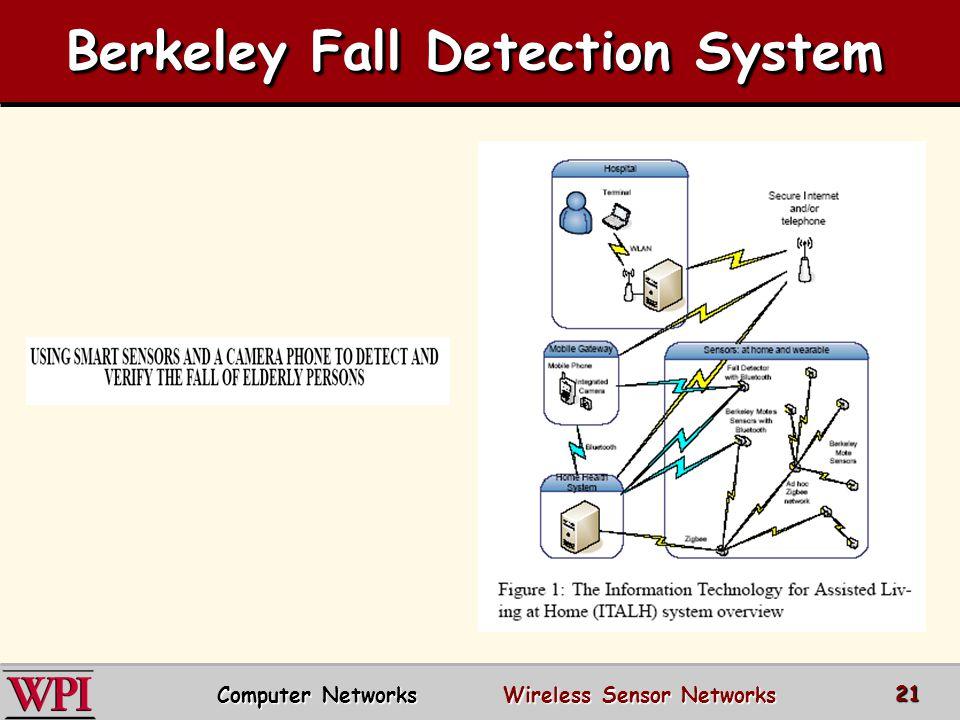 Berkeley Fall Detection System Computer Networks Wireless Sensor Networks 21