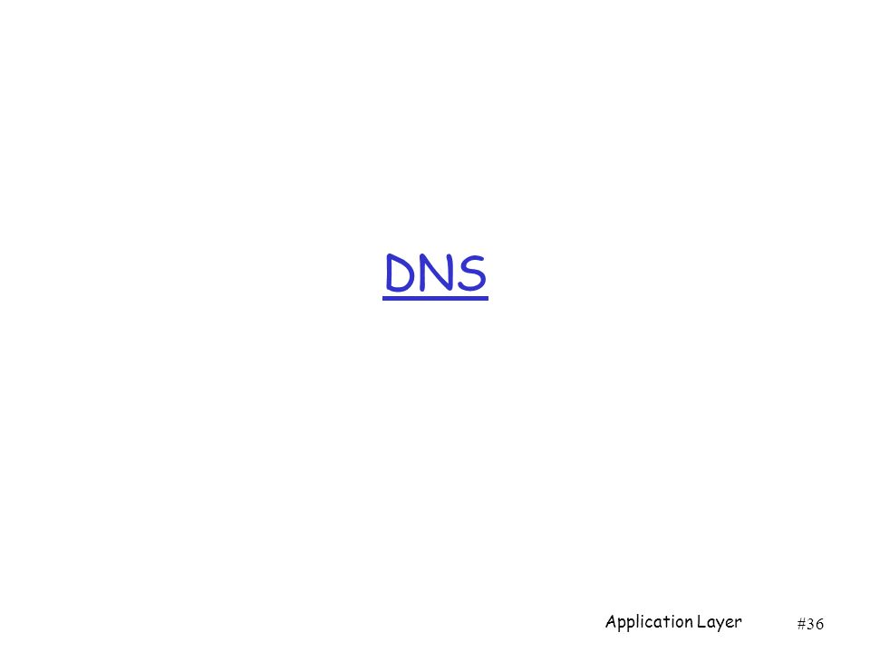 #36 DNS Application Layer