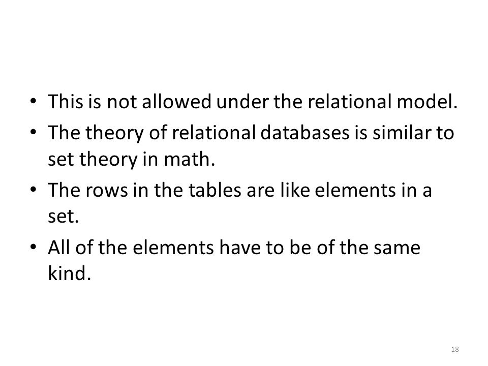 This is not allowed under the relational model.