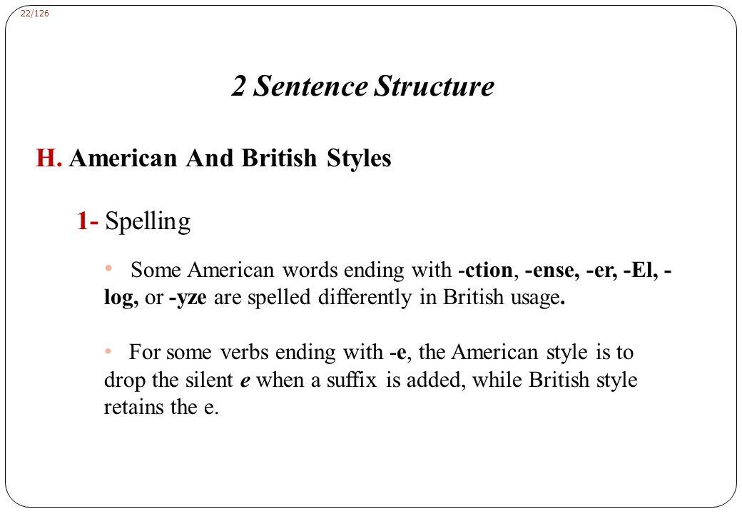 22/126 2 Sentence Structure H.