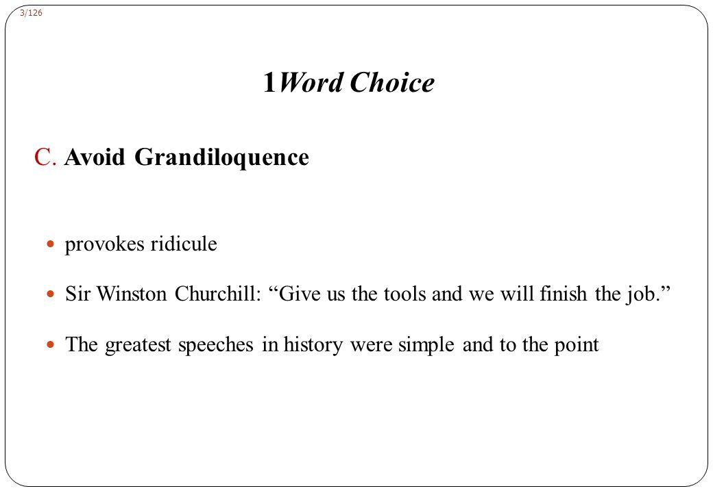 3/126 1Word Choice C.