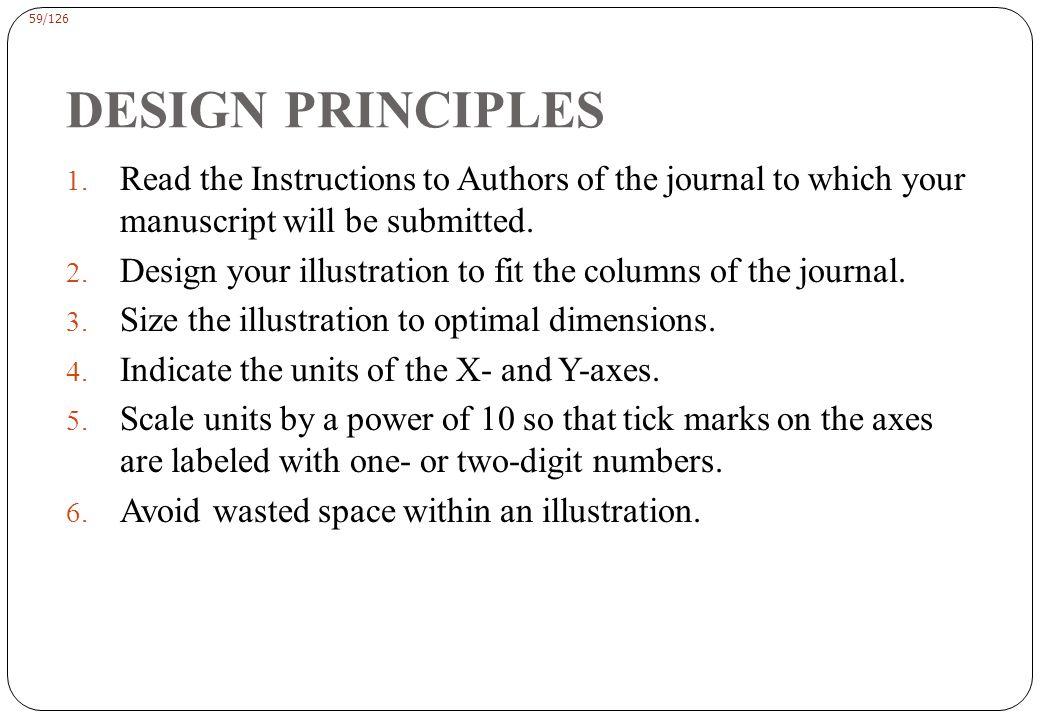 59/126 DESIGN PRINCIPLES 1.