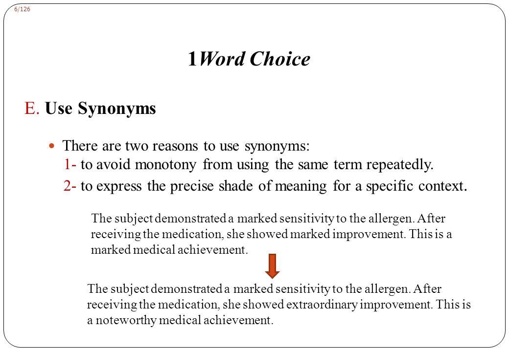 6/126 1Word Choice E.