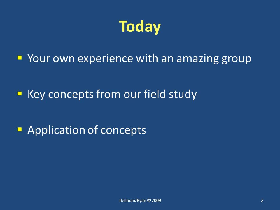 Starting Questions  Why do some groups achieve amazing results while most others do not.