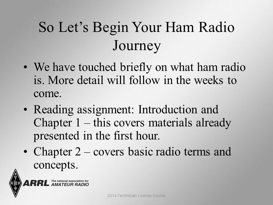 So Let's Begin Your Ham Radio Journey We have touched briefly on what ham radio is.