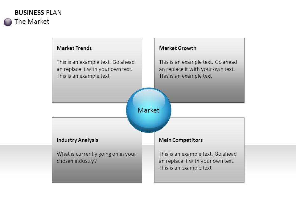 BUSINESS PLAN Management Team Example text This is an example text.