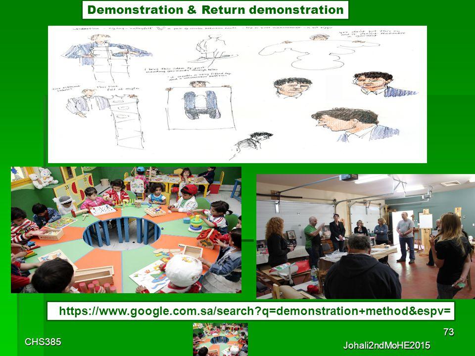 CHS385 Johali2ndMoHE2015 72 Demonstration & Return demonstration
