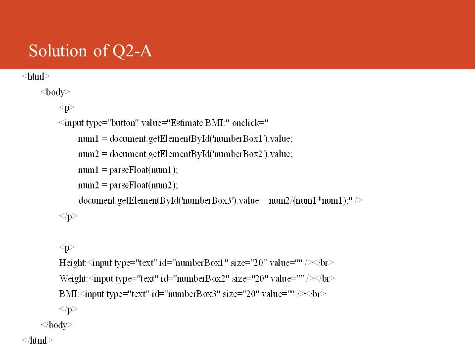 Solution of Q2-A