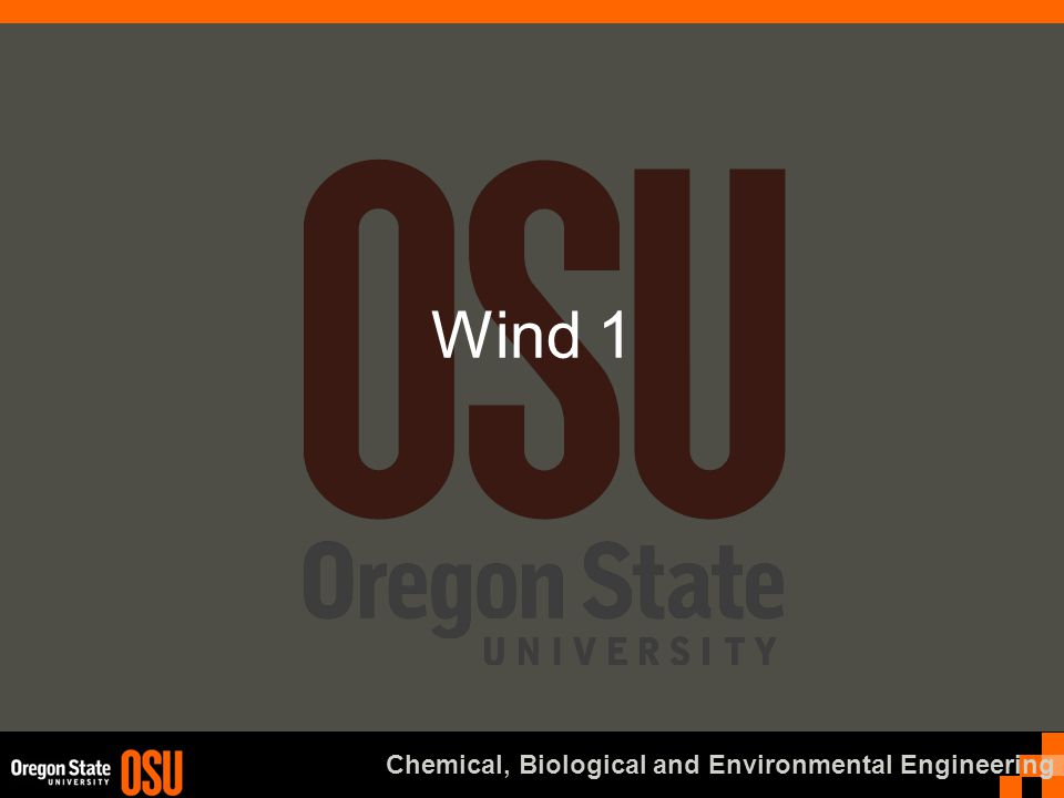 Chemical, Biological and Environmental Engineering Wind 1