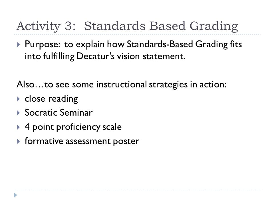Proficiency Scale Example  Standard used for this activity (as an example)  COE Reading  PS6 Informational Thinking Critically  LT3 Extends information beyond the text by explaining generalizations OR drawing conclusions to demonstrate understanding of the text.