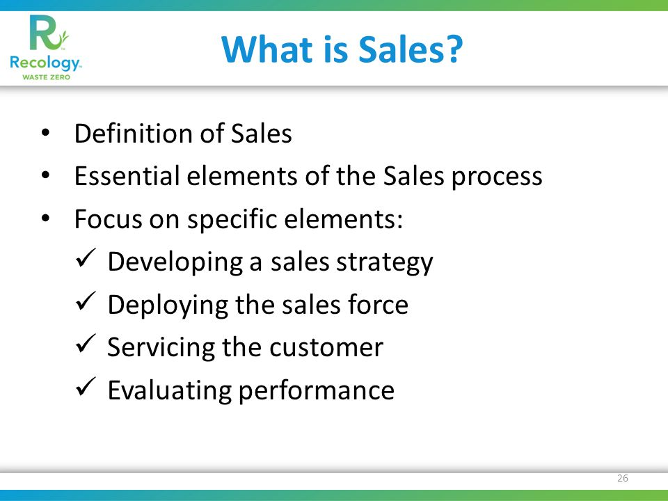 What is Sales.