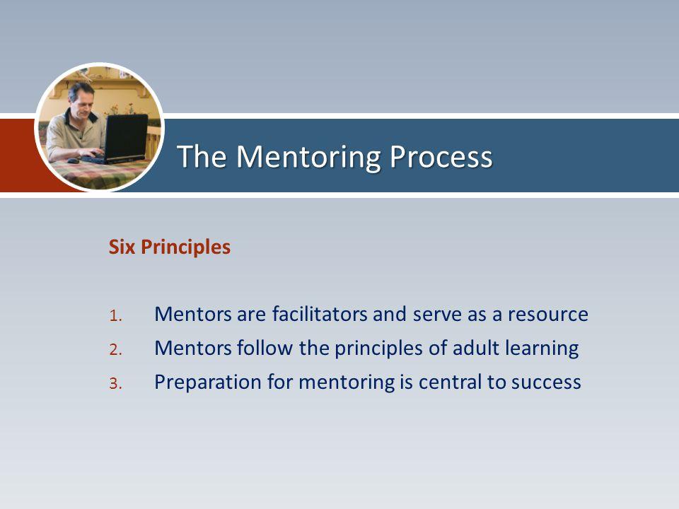 Six Principles 1.Mentors are facilitators and serve as a resource 2.