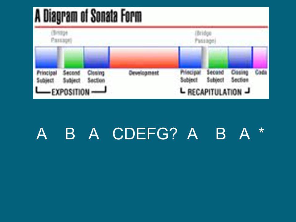 A B A CDEFG? A B A *