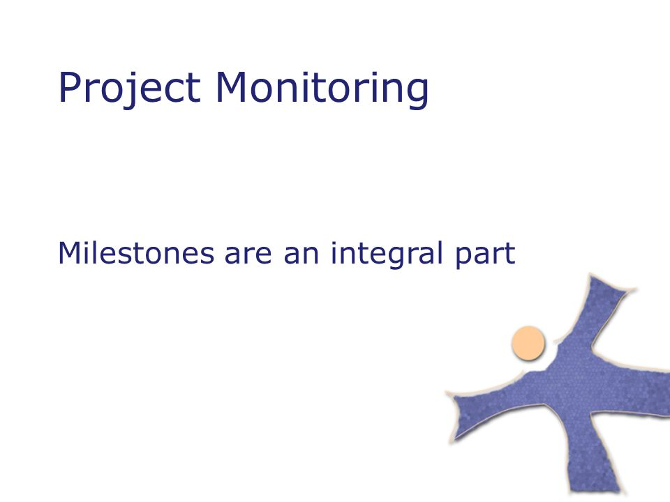 Project Monitoring Milestones are an integral part