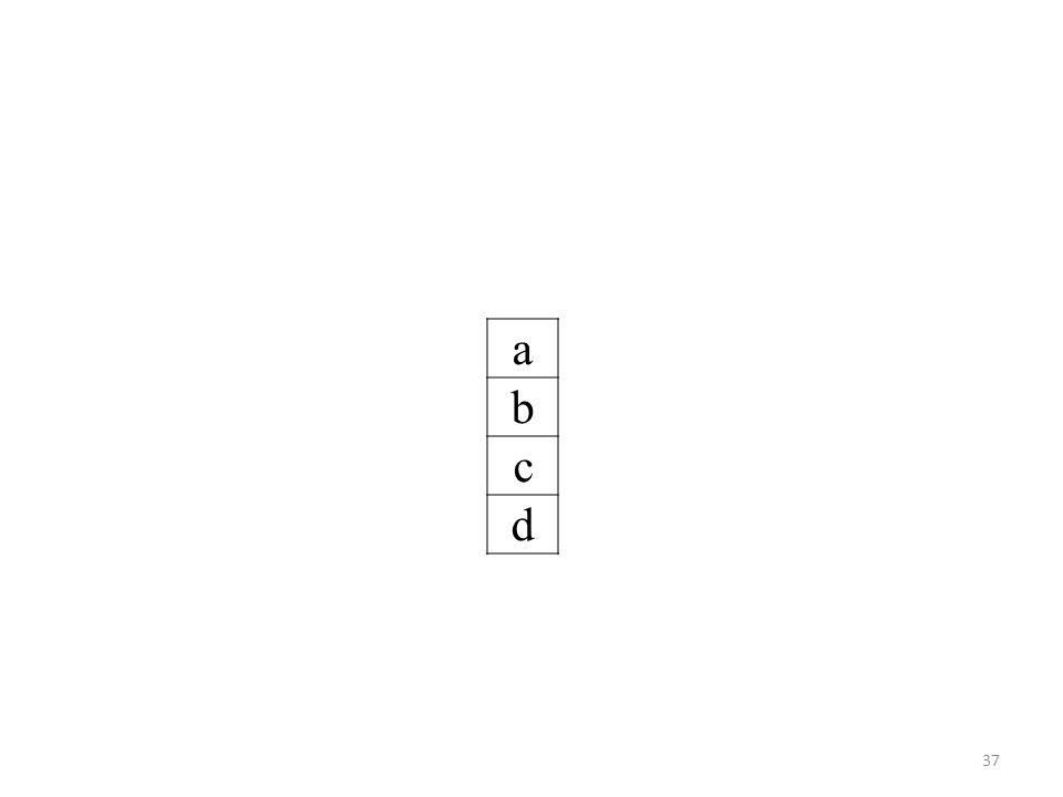 a b c d 37