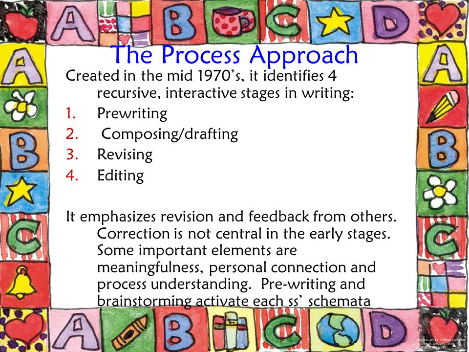 The Product Approach It focuses on how the final piece of writing looks.