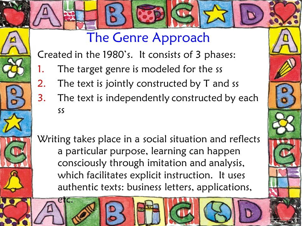 The Process Approach Created in the mid 1970's, it identifies 4 recursive, interactive stages in writing: 1.Prewriting 2.