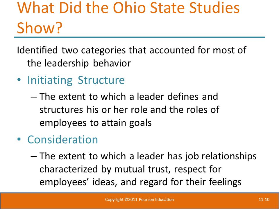 11-10 What Did the Ohio State Studies Show.