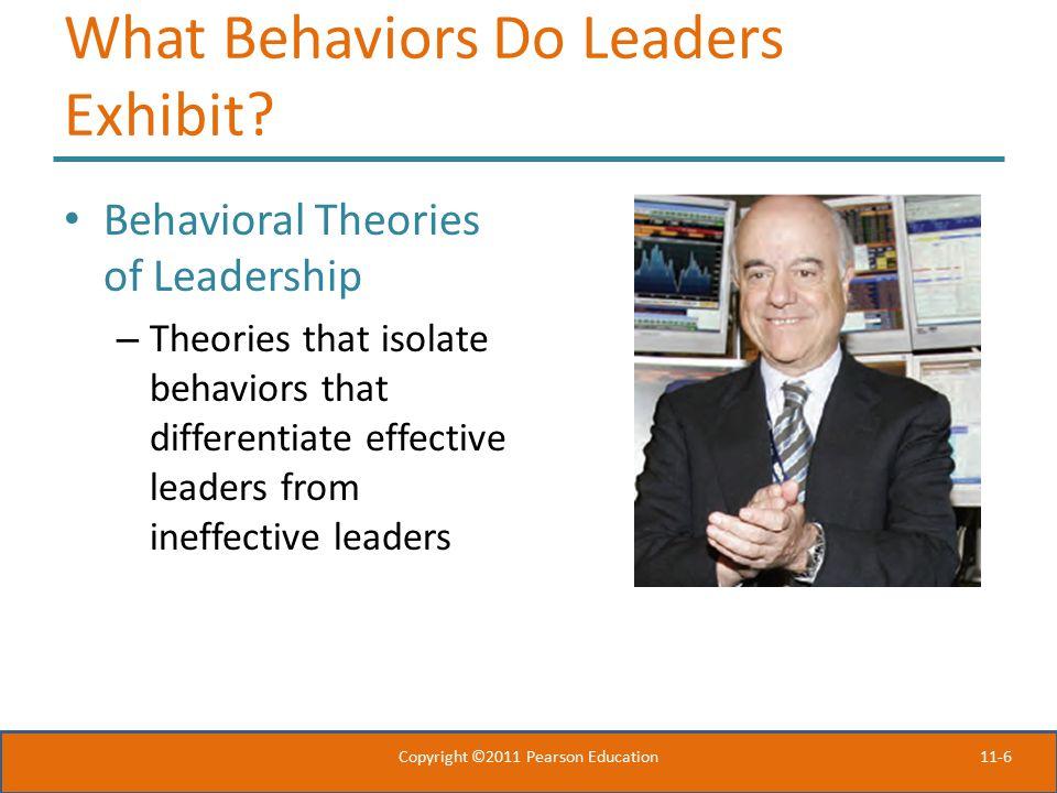 11-6 What Behaviors Do Leaders Exhibit.