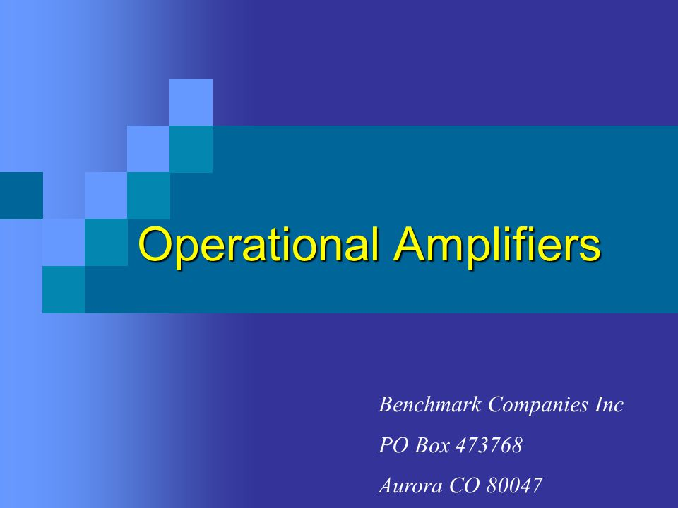 INTRODUCTION What is an operational amplifier.