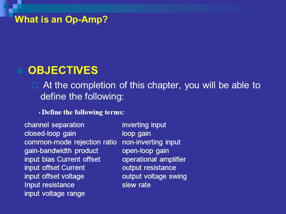 THE OP-AMP DATA SHEET  Electrical Characteristics: cont.