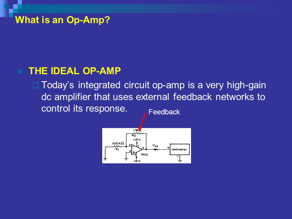 Open Loop and Closed Loop Gain  When some of the output signal is fed back to the op-amp's input, the ratio of the output to input voltage is termed the closed-loop gain, A CL, and is always less than the open-loop gain.