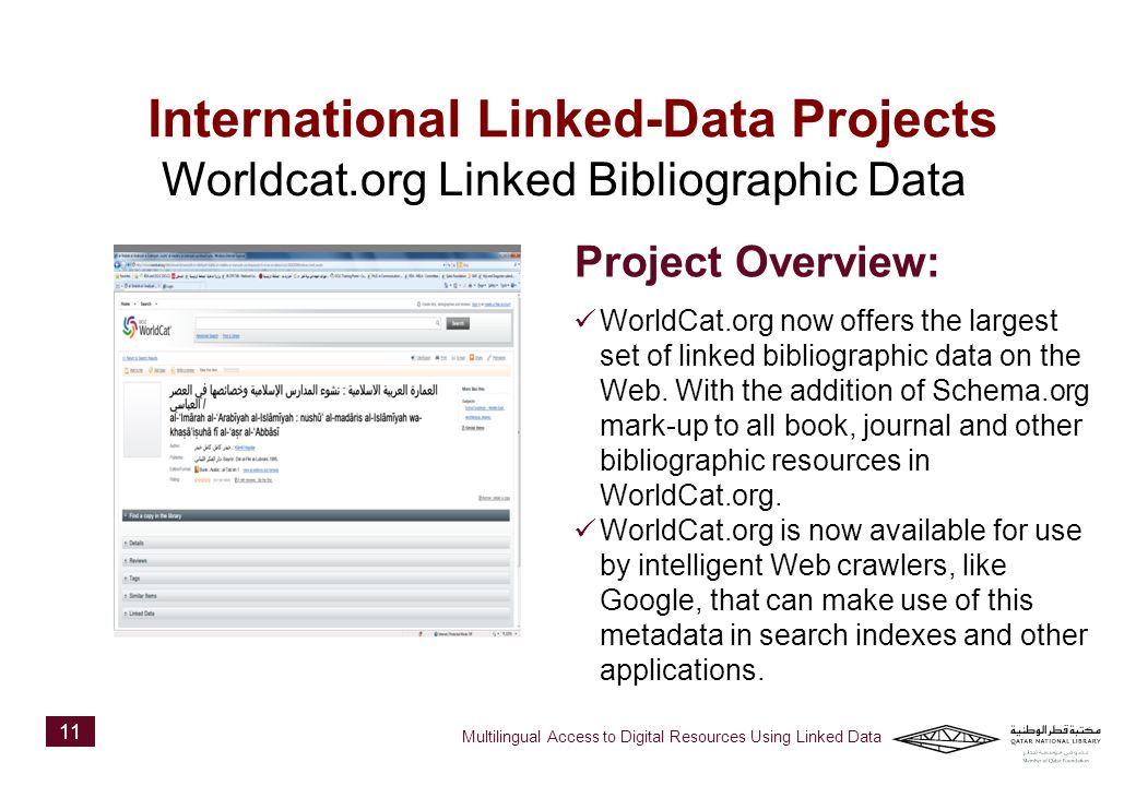 WorldCat.org now offers the largest set of linked bibliographic data on the Web.