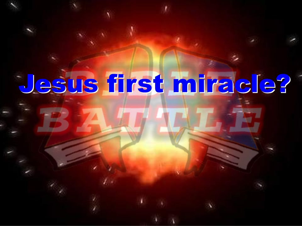 Jesus first miracle