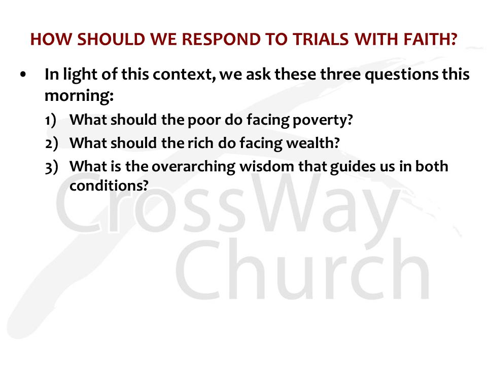 BOASTING: AN UNLIKELY COUNSEL FOR FACING POVERTY AND WEALTH 1)What should the poor do facing poverty.