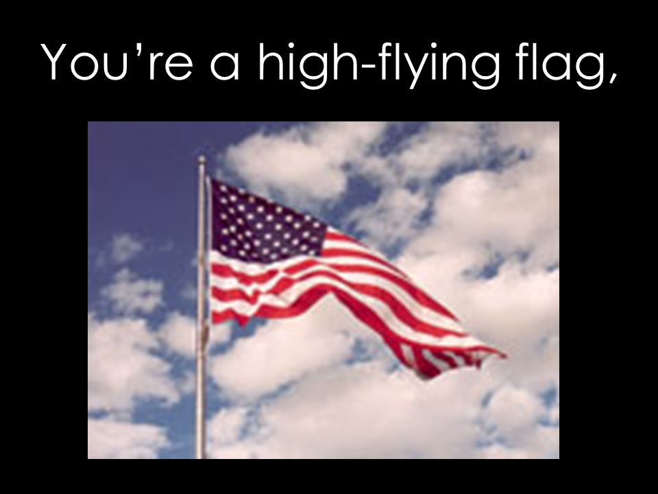 You're a high-flying flag,