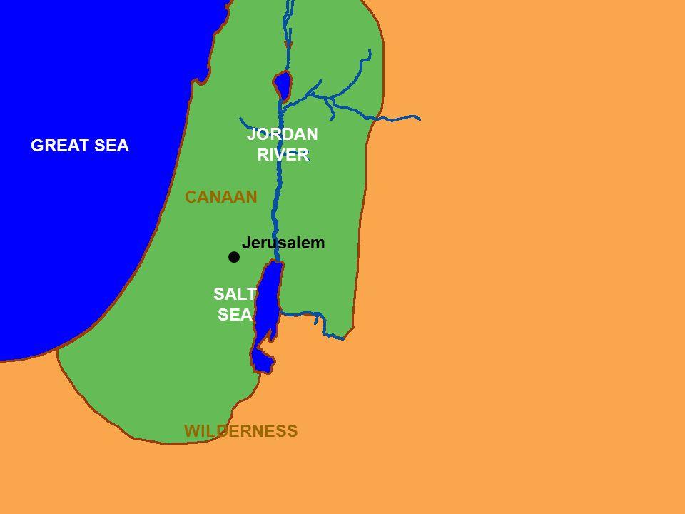 CANAAN JORDAN RIVER GREAT SEA SALT SEA WILDERNESS Jerusalem