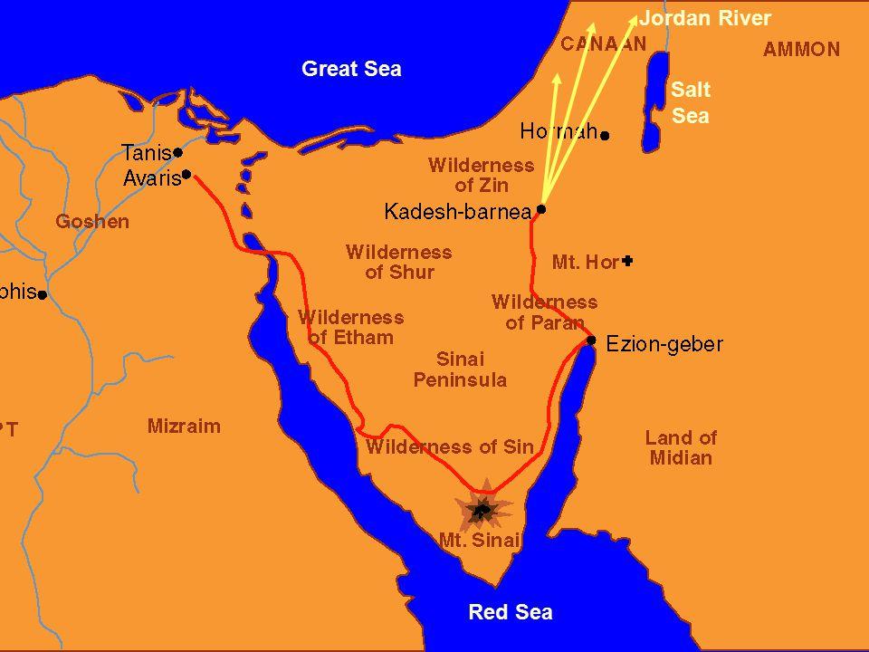 Great Sea Red Sea Salt Sea Jordan River