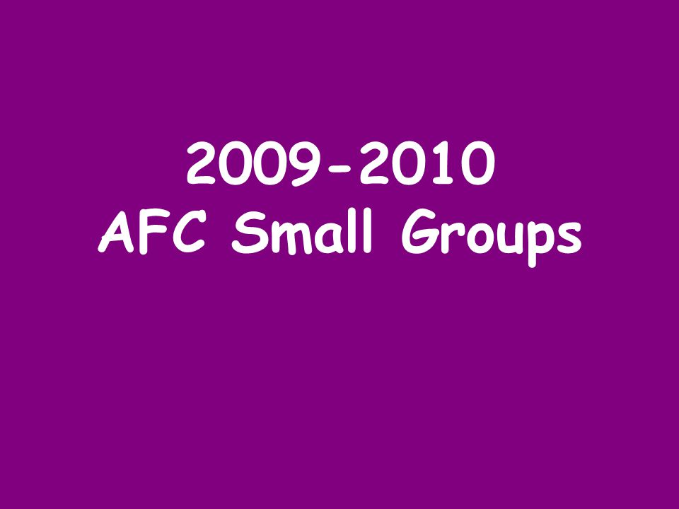 2009-2010 AFC Small Groups