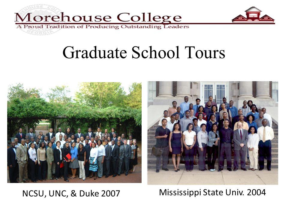 Graduate School Tours NCSU, UNC, & Duke 2007 Mississippi State Univ. 2004